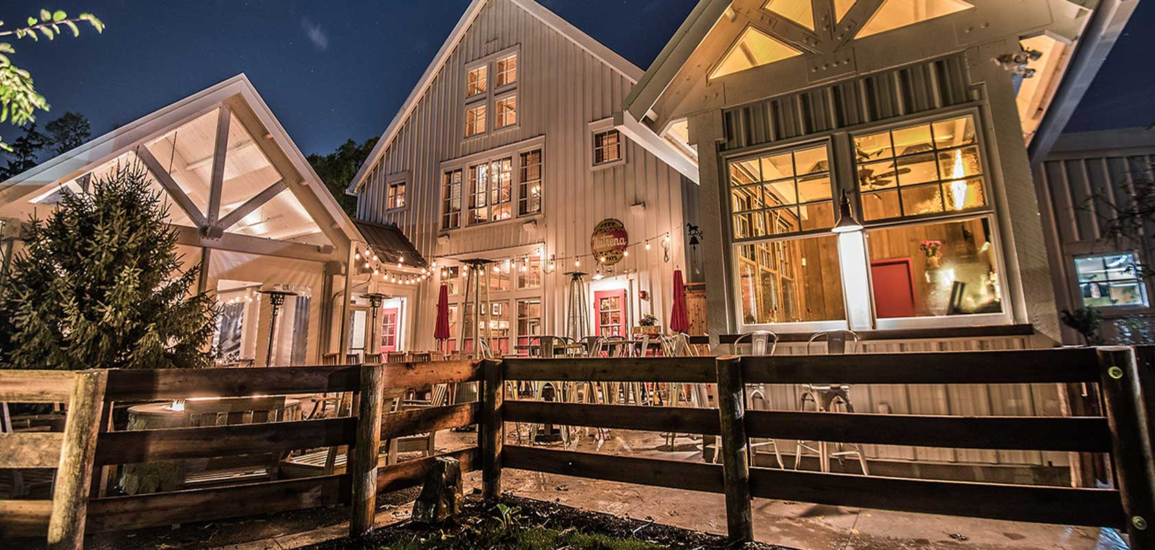 The Barn exterior seating